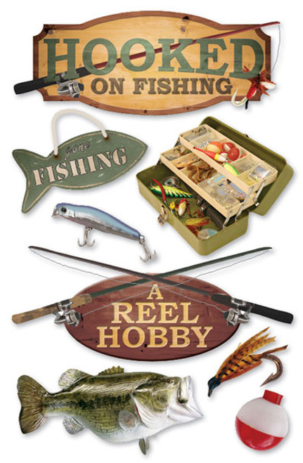 Paper House 3D Sticker: Fishing