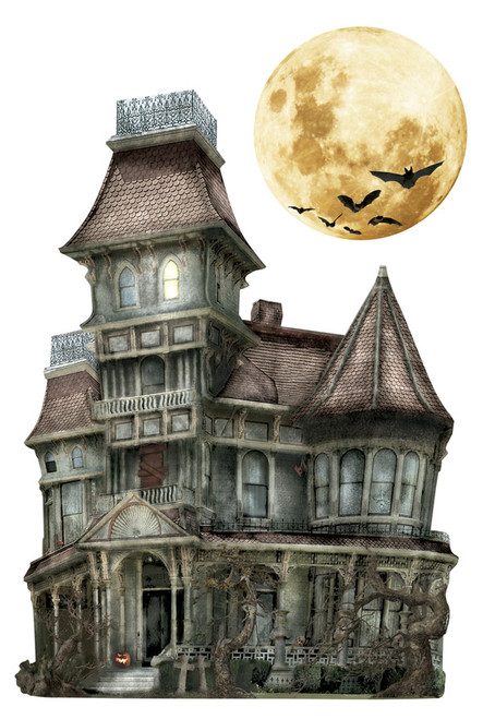 Paper House 3D Sticker: Haunted House