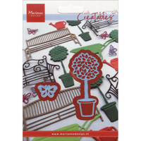"""Marianne Design Creatables Dies: Topiary & Butterfly, 3""""X1.5"""" & 1""""X.5"""""""