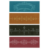 Sizzix Textured Impressions A6 Embossing Folders: Chic Florals & Vine Set
