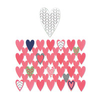 Sizzix Thinlits Dies: Heart Card Front/Layering Shapes