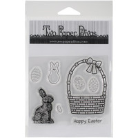 Two Paper Divas Stamps: Easter Basket