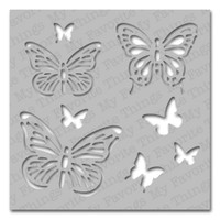 My Favorite Things MIX-ables Stencil 6x6: Winged Beauties