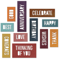 Sizzix Thinlits Dies by Tim Holtz: Celebration Word Blocks