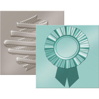 WRMK Next Level 6x6 Embossing Folders: Ribbon