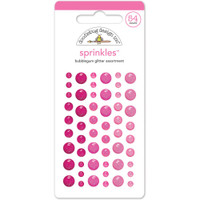 Sprinkles Glitter Enamel Sticker Dots: Bubblegum