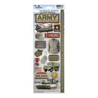 Paper House Productions Cardstock Stickers: Army