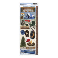 Paper House Productions Cardstock Stickers: Camping 2