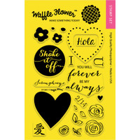 Waffle Flower Crafts 4x6 Clear Stamps: DT Mix
