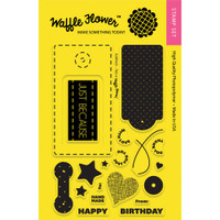 Waffle Flower Crafts 4x6 Clear Stamps: Surface Tag