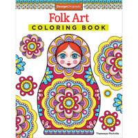 Design Originals Coloring Book: Folk Art