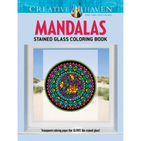 Creative Haven Stained Glass Coloring Book: Mandalas