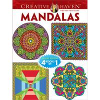 Creative Haven 4-In-1 Coloring Book: Mandalas