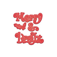 Spellbinders Shapeabilities Holiday Dies: Merry & Bright