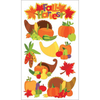 EK Success Sticko Dimensional Glitter Stickers: Cornucopia