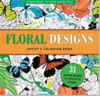 Studio Series by Peter Pauper Press: Floral Designs Artist's Coloring Book