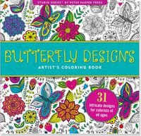 Studio Series by Peter Pauper Press: Butterfly Designs Artist's Coloring Book