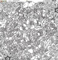 Reminisce Color It! 12x12 Scrapbook Paper: Number 6
