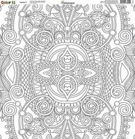 Reminisce Color It! 12x12 Scrapbook Paper: Number 5
