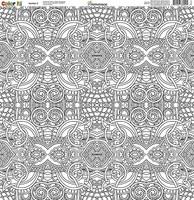 Reminisce Color It! 12x12 Scrapbook Paper: Number 3