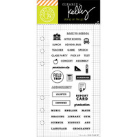 Hero Arts Clearly Kelly Stamps On The Go: School Planner
