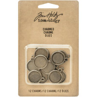 "Tim Holtz Idea-Ology: Round Charms (1/2"")"
