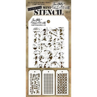 Tim Holtz Mini-Stencil Sets (3/Pkg): Set 7