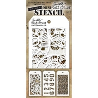 Tim Holtz Mini-Stencil Sets (3/Pkg): Set 2
