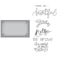 Spellbinders Stamp & Die Set: Frame Of Mind