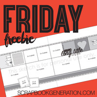 SG Friday Freebies: 2016 September - Layout Sketch