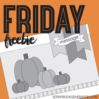 SG Friday Freebies: 2016 September - Card Sketch