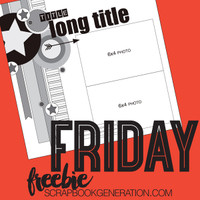SG Friday Freebies: 2016 October - Layout Sketch
