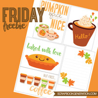 SG Friday Freebies: 2016 October - Title & Journaling Printables