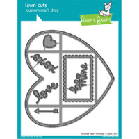 Lawn Fawn Custom Craft Die: Stitched Heart Envelope