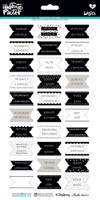 Illustrated Faith Basics 6x12 Stickers: Bible Books Tabs B&W