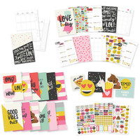Simple Stories Carpe Diem | Emoji Love A5 12 Month Planner Insert Set