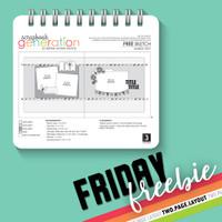 SG Friday Freebies: 2017 March - Layout Sketch by Debbie