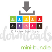2017 APRIL MINI-BUNDLE: Birthday Theme - Two Page