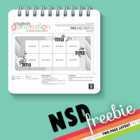 SG National Scrapbook Day Freebies: 2017 May - Two Page Layout Sketch by Debbie
