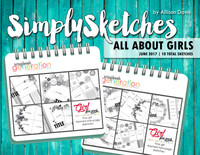 Simply Sketches Ebook: June 2017 | All About Girls