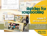 E-BOOK: Sketches For Scrapbooking - Volume 8 All-Inclusive (non-refundable digital download)