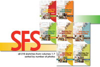 E-BOOK: Sketches For Scrapbooking - Volumes 1-7 (non-refundable digital download)