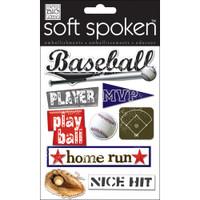 Soft Spoken Stickers: Play Ball