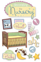 Paper House 3D Sticker: Decorating The Nursery