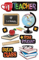 Paper House 3D Sticker: Teacher