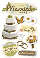 Paper House 3D Sticker: Just Married
