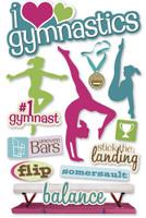 Paper House 3D Sticker: Gymnastics