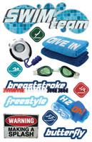 Paper House 3D Sticker: Swim Team