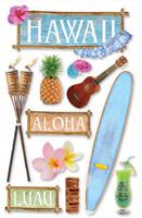 Paper House 3D Sticker: Hawaii