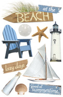 Paper House 3D Sticker: At The Beach